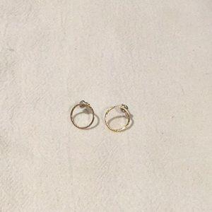 Gold circle earrings